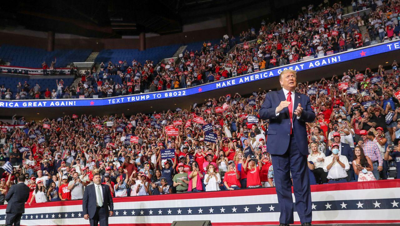 Coronakrise: Anstieg von Infektionen in Tulsa nach Trumps Wahlkampfauftritt