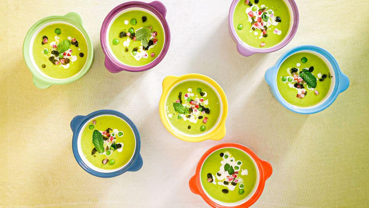 Nervennahrung: Heute gibt es Erbsen-Minz-Suppe