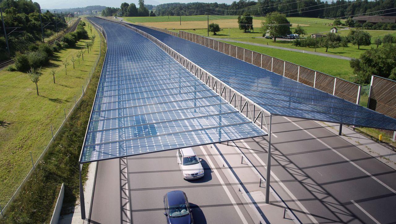 Forschungsprojekt in Österreich: Ein Solardach für die Autobahn