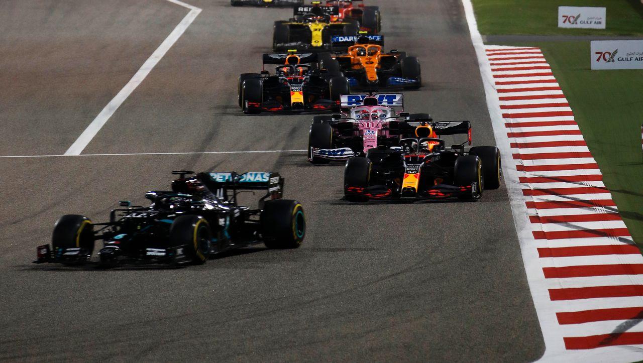 Nach dramatischem Crash von Grosjean: Lewis Hamilton gewinnt Unglücksrennen in Bahrain